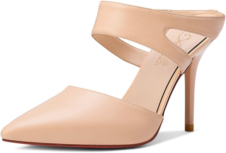 Sandaler QIDI sommar kvinnor TPR Mode svart Apricot hög hög hög klack Single skor (färg  Apricot, Storlek  EU36  UK3.5)  högkvalitativ äkta