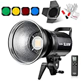 Godox SL-60W 60W CRI95+ Qa90 5600±300K Bowens Mount Led Continuous Video Light with BD-04 Barn Door,Wirelessly Adjust Brightness, 433MHz Grouping System,for Video Recording,Wedding,Outdoor Shooting