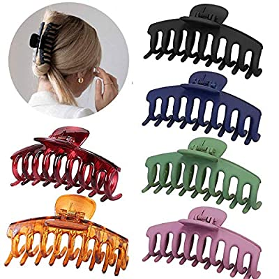 Hair Claw Clips for Thick Hair, 4.3? 6 Pcs Big ...