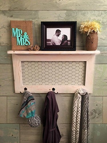 Rustic Home Décor, country farmhouse décor, coat rack, coat rack with shelf, rustic home décor, shelf with hooks, farmhouse style