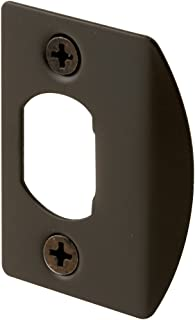 Defender Security E 2516 Standard Latch Strike, 1-5/8 in., Steel, Classic Bronze Plated Finish (Pack of 2)