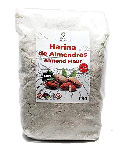 Farine d'amande 1 Kg - Idéal pour les Gâteaux et Kéto - Sans gluten - 100% D'origine Méditerranéenne - Sans OGM - Vegan
