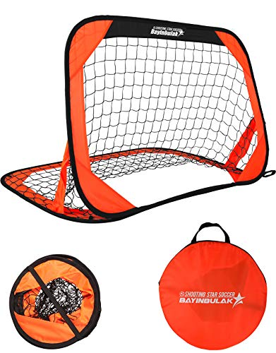 BAYINBULAK Portable Football Goal Mini Pop Up Football Goal for Kids, 1 Pack