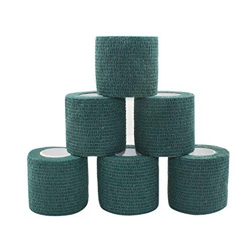 COMOmed selbstklebender verband elastische binde handgelenk bandage pflaster rolle Dog Bandagen Tierische Bandagen Dunkelgrün 5 cm X 6 Bände