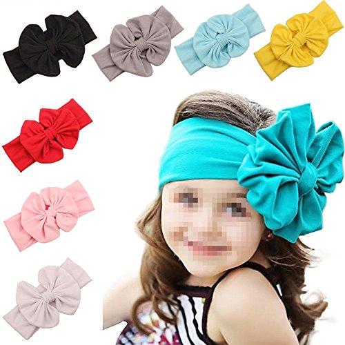 TININNA Lot de 8 Filles Bébé d'enfants Bandeau élastique Tête Accessoires Cheveux De Bébé Wrap