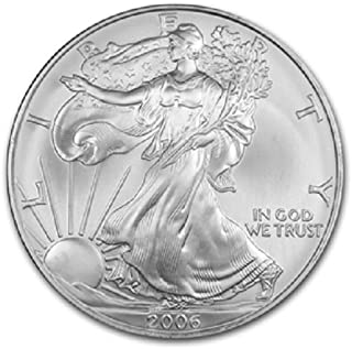 2006-1 Ounce American Silver Eagle Low Flat Rate Shipping .999 Fine Silver Dollar Uncirculated US Mint