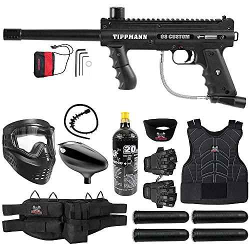 Maddog Tippmann 98 Custom Basic Protective CO2 Paintball Gun Marker Starter Package - Black