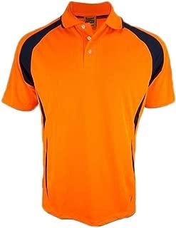 REMIXX 2 Colors Hi-Vis Safety Polo Breezeway Quick Dry Workwear Short Sleeve Shirt Top T-Shirt