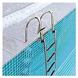 Escalera Barco Piscina Telescópico Escalera de 4 escalones para piscina / barco, Pontón marino Plegable Telescópico Escaleras interiores de entrada trasera con manijas y pedal ancho, Escalera de buceo