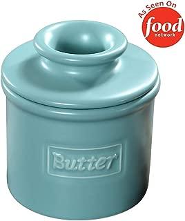 Butter Bell - The Original Butter Bell Crock by L. Tremain, French Ceramic Butter Dish, Café Matte Collection, Aqua