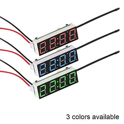 NXSP Auto Elektrische Klok, Digitale Timer LED Temperatuur Auto Vervangende Onderdelen Thermometer Voltmeter LED Display Licht
