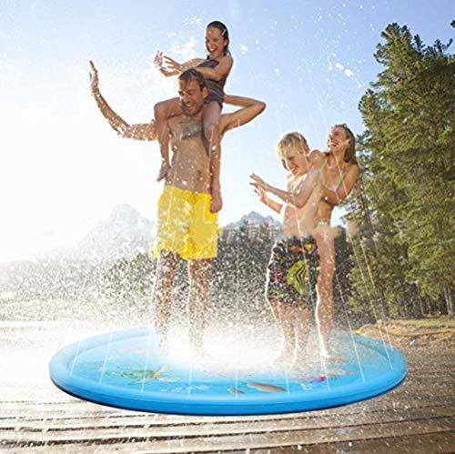 WXCL Sommer Baby Baby Wasser Pad Kind Wasser Strand Splash Pad Außenbadewanne Swimmingpool Splashing Babyzubehör, 100 cm Blau