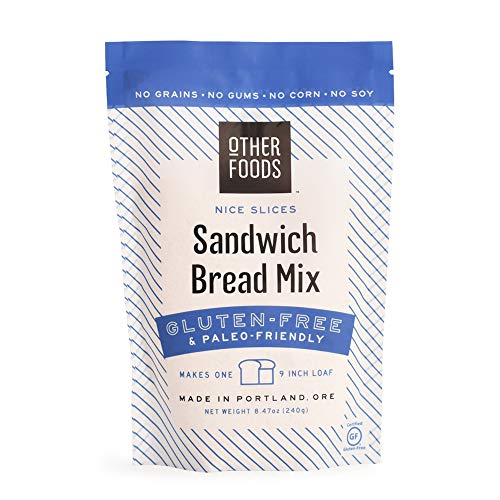 Gluten-Free Sandwich Bread Mix - Easy Bake, Grain-Free, Dairy-Free, Paleo Friendly Baking Mix by Other Foods