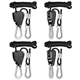 iPower GLROPEX2 2-Pair 1/8 Inch 8-Feet Long Heavy Duty Adjustable Rope Clip Hanger (150lbs Weight Capacity)...