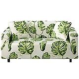 WXQY Funda de sofá elástica con Estampado Floral, Funda de sofá de Sala de Estar Antideslizante Totalmente Envuelta, Funda de protección de Muebles A21 de 2 plazas