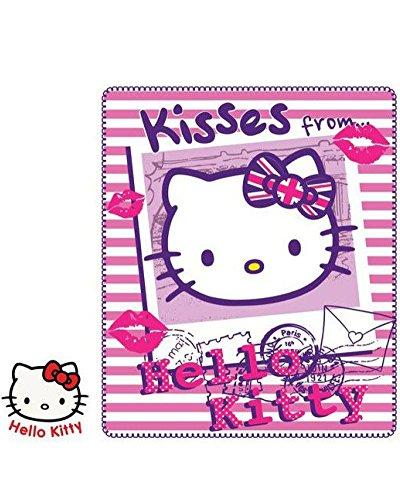 Hello Kitty Manta de forro polar 140 x 120 cm original