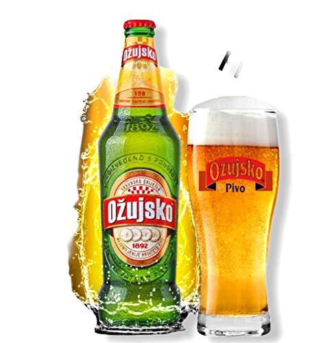 24 Flaschen Ožujsko Bier aus Kroatien mit 4,9% Alc. 0,33l Beer Pino