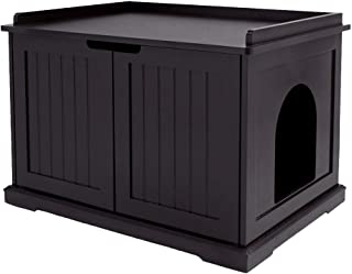 unipaws Designer Cat Washroom Storage Bench, Litter Box Cover, Sturdy Wooden Structure, Spacious Storage, Easy Assembly, F...