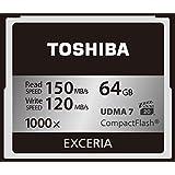 TOSHIBA コンパクトフラッシュカード 64GB EXCERIA 1000倍装 (最大読出速度150MB/s 最大書込速度120MB/s) (国内正規品) CF-EZ064