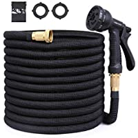 Owsoo 100ft Expandable Garden Hose with 8 Functional Nozzle