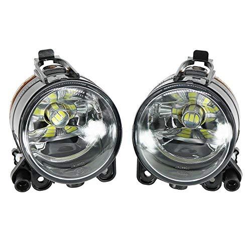 CJIANHUA 2pcs de la luz del Coche LED for VW Golf 5 Golf MK5 2004 2005 2006 2007 2008 2009 LED Frontal Niebla luz de Niebla de la lámpara con Bombillas LED Todo Nuevo Nunca Usado (Color : Black)