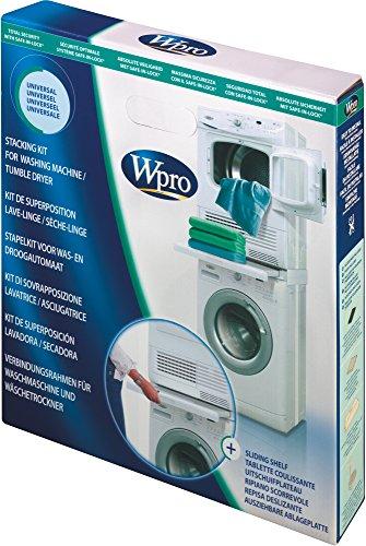 Wpro SKS101 Verbindungsrahmen Waschmaschine/Trockner Säule ORIGINAL Bauknecht 484000008436 480181701002 Zwischenbaurahmen UNIVERSAL ausziehbar Ablage wie Ignis Whirlpool Ikea (SKU: 1000026027-000 )