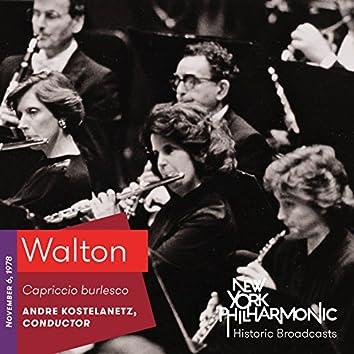 Walton: Capriccio burlesco (Recorded 1978)
