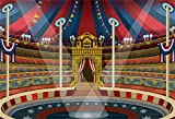 YongFoto 3x2m Fondo de Fotografia Circo Zona de Juegos Espectáculo de Rendimiento Carpa de Circo...