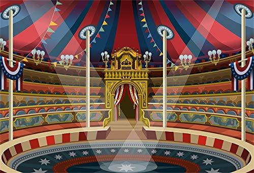 YongFoto 3x2m Fondo de Fotografia Circo Zona de Juegos Espectáculo de Rendimiento Carpa de Circo Tienda de campaña Grande Sala Telón de Fondo Photo Booth Infantil Party Banner Photo Studio Atrezzo