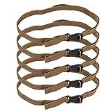Fuerte Fornido Cinturón, Lanzamiento Hebilla Diseño Páginas Cincha Hecho Trenza Materiales Seguridad Lanzamiento Hebilla por Exterior Mochila Cámping Bolso (Caqui)