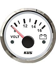 KUS Waterdichte Voltmeter Voltage Gauge 12V/8-16V 52MM (2 inch) met achtergrondverlichting