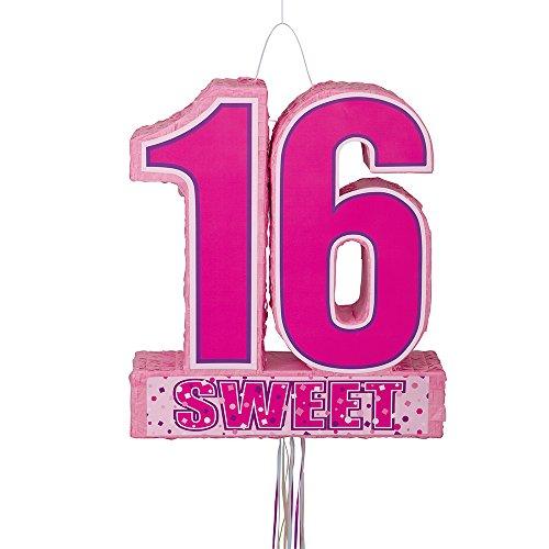 Unique Party 66190 - Sweet 16 Birthday Pinata, Zugschnur