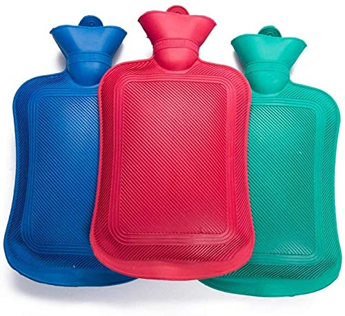Sky Vogue Hot Water Rubber Bag/Bottle For Pain Relief (Pack of 3,Multi Color,2 L)