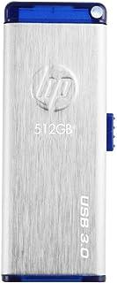 HP USBメモリ 512GB USB 3.0 伸縮式、ブラシテクスチャ、ステンレス鋼のフラッシュドライブ x730w HPFD730W-512