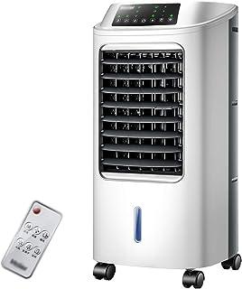 YONG FEI Aire acondicionado portátil: 7,5 horas de sincronización, purificación de iones negativos, tanque de agua grande de 6L, panel LED de casa humidificación con control remoto inteligente, ventil