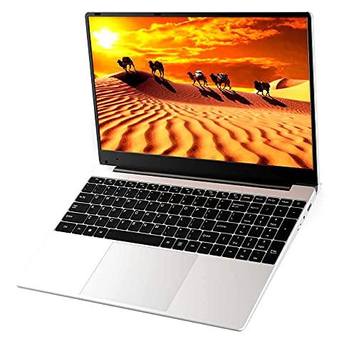 Festnight Ordenador portátil de Negocios portátil de 15,6 Pulgadas con procesador Intel Celeron J3455 Pantalla 1920 * 1080 8 GB + 512 GB de Memoria Múltiples Puertos Enchufe de la UE
