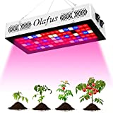Olafus 300W Luz Plantas, 80 LED, 3 Modos Iluminación, Espectro Completo, Lámpara Crecimiento, Floracion, Fructificación, para invernadero, Plántulas, Hidroponía, Maceta de Semillas - Conexión en Serie