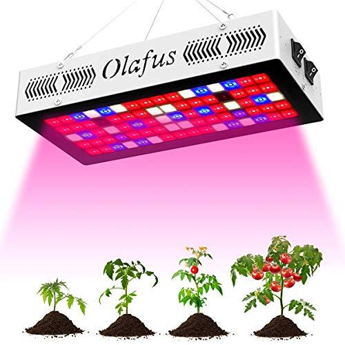 Olafus 300W Grow Light Lampada per Piante VEG e Bloom 3 Modalità Spettro Completo di Luci 80 LEDs, Lampadina Piante Stimola Germinazione e Fioritura per Peperoncino Pomodoro Fiori Verdure