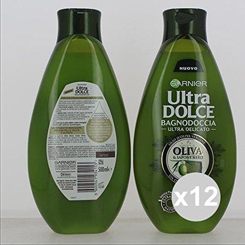 Set 12 GARNIER Ultra Dolce Bagnodoccia 500 Oliva Mitica Prodotti per bagno e doccia