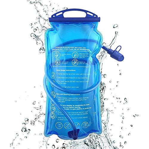RXING 2L Poche à Eau Hydratation Sac de Rangement pour vélo Grand réservoir d'eau à Ouverture étanche à l'eau Militaire