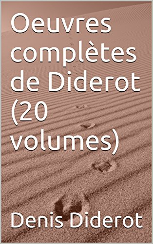 Oeuvres complètes de Diderot (20 volumes)