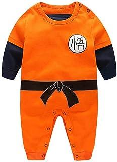 YEMOCILE Dragon Ball Z Design Baby Jungen Mädchen Strampler Cosplay Kostüm Goku-inspiriert Säugling Outfit Overall Kleidung