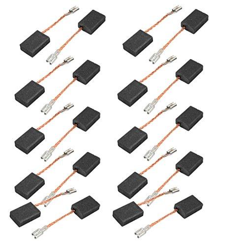 sourcingmap® 10 pares Escobillas de carbón de Motor de taladro eléctrico 5 x 10 x 15 mm sin muelle