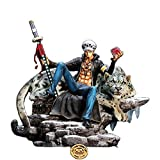 One Piece GK, Trafal, Luo, Black Pearl, Snow Leopard Scene, Figura de Estatua...