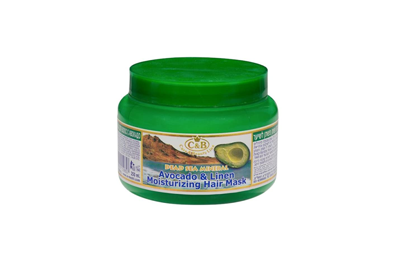 コメント以降単位アボカドとリンネル湿潤髪のマスク 250mL 死海ミネラル (Avocado & Linen Moisturizing Hair Mask