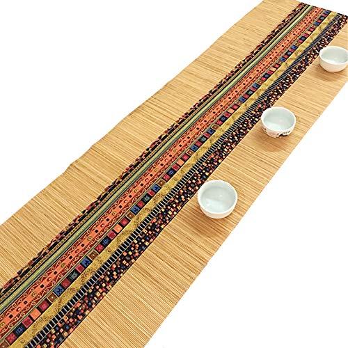 JH1 Multi-Size Bambus Tischläufer, Kommode Sideboard Speisen Dekor Matte rutschfeste Hitzedichte Tee Kaffee Tischsets, Wischen Sie Sauber (Color : Original, Size : 30×210cm)