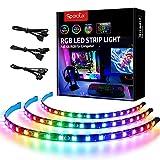 Striscia LED RGB per PC (3 pcs striscia Rainbow)