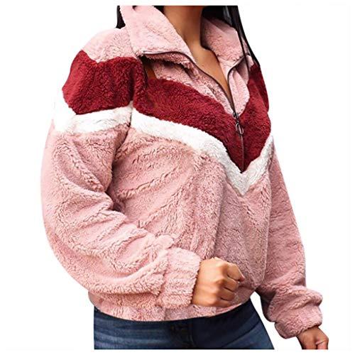 Momoxi Damen Hoodie Unisex Sweatshirt Strickjacke Pullover Slim Fit Kapuzenpullover Weihnachten Jumper pullis Strickweste rote schwarzer grobstrickjacke roter graue grau Shop mit Fell rosa XL