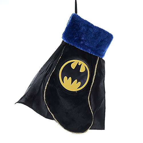 "Kurt Adler 19"" Batman Applique Stocking with Cape"