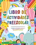 Libro de actividades preescolar: Cuaderno de actividades infantiles - Libro de colorear vacaciones...